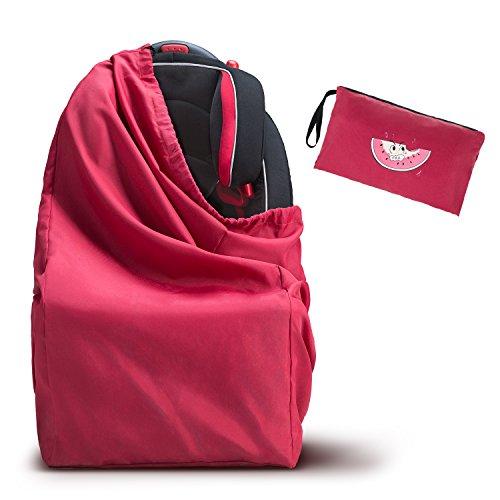 Kinderwagen Transporttasche - WoNiu Transporttaschen Reisetasche mit Schultergurt, wasserdichte Oxford Tasche zum Verladen von Autositzen, Kinderwagen, Rollstühlen, Druckwagen - Rot