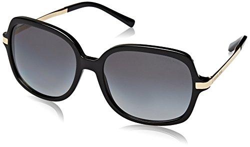 Michael Kors Damen ADRIANNA II 3160T3 57 Sonnenbrille, Black/Gold/Greygradientpolarized,