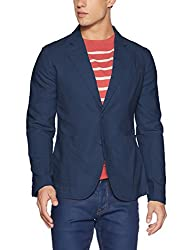 United Colors of Benetton Mens Cotton Jacket (8903239919063_15P2M9DL22H8G_48_Blue)