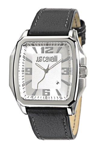 Just Cavalli - R7251173545 - Rider - Montre Homme - Quartz Analogique - Cadran Blanc - Bracelet Cuir Noir