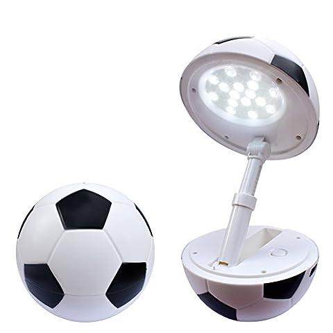 Happy Dream Tischlampe Faltbare LED kinder Schreibtischlampe höhenverstellbar USB-Anschluss lampe Dimmbare Fußball Modellieren Leselampe Buchlampe baby Tischleuchte zimmer schreibtisch