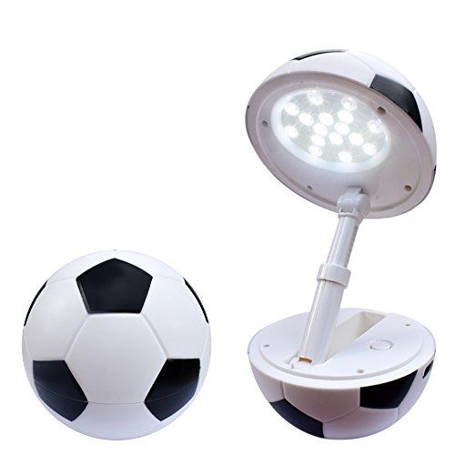 Happy Dream Tischlampe Faltbare LED kinder Schreibtischlampe höhenverstellbar USB-Anschluss lampe Dimmbare Fußball Modellieren Leselampe Buchlampe baby Tischleuchte zimmer schreibtisch tischleuchte。(schwarz)