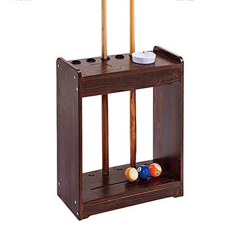 XGGYO Pool Cue Rack - Billiard Stick Rack, Holds 6 Cues, Billiard Table Accessories/braun / 6 Löcher