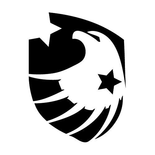Leon Online Box Eagle American Starke Shield-Vinyl Aufkleber Aufkleber für Auto, iPad, Laptop, Helm 12cm schwarz