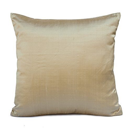 Luz marrón seda manta decorativa Funda de almohada, moderno almohada, Accent almohada, Toss almohada...