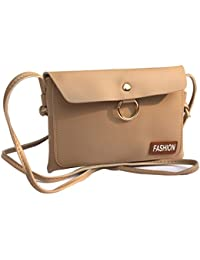 Urban Interia Women's American Micro Leather Latest Fashionable Sling Bag(Light Brown,Fashion21)