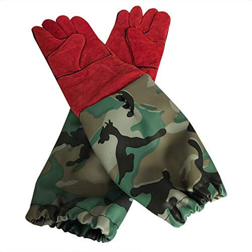 L.TSA Imkerhandschuhe, Handschuh Imkerschutzhandschuh 100% Leder Komfortable Verdickung für den professionellen Imker