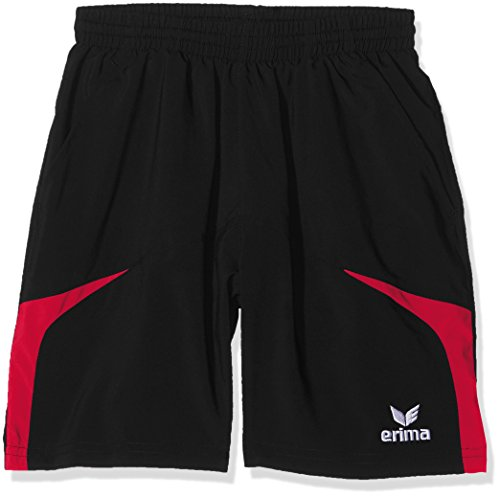 Erima Kinder Shorts Razor 2.0, Schwarz/Rot, 140, 109606