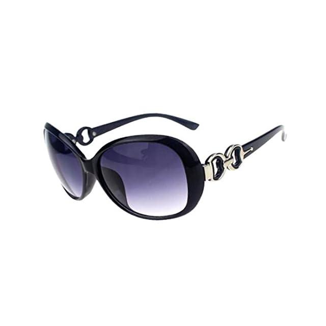 48fbc0aea61b3c Lunettes de soleil surdimensionnées mode Noir Style UV400 Noir ...