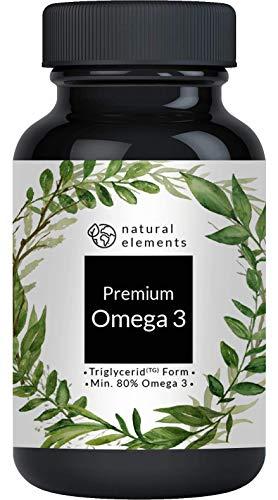 Omega 3 Fischöl Kapseln - Premium: GoldenOmega® mit 80% Omega 3-Gehalt in Triglycerid-Form - Laborgeprüft, ultrarein, hochdosiert und aus nachhaltigem Fischfang - 120 Kapseln
