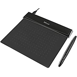 Trust Flex Design - Tableta gráfica ultra fina y flexible, negro