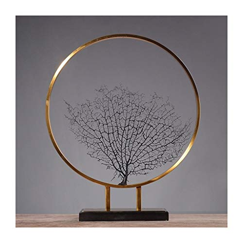 Dekoration Handwerk kreative Meer Baum Metall schmuck Wohnzimmer Hause schmuck Modell Zimmer (Size : L) ()
