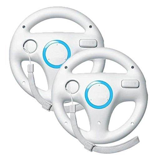2 PCS Weiß Mario Kart Wii,PYRUS Wii controller, Steuerung Mario Kart Racing Wheel Game-Controller, für Nintendo Wii Remote Game