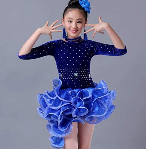 XGWD Tanzkleidkostümrockstadiumsleistungswettbewerb der weiblichen Kinder der lateinamerikanischen Tanzkleidrot ()