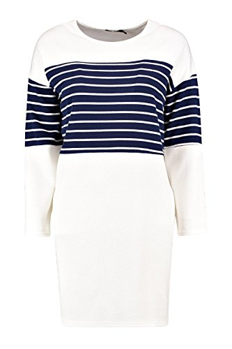 Marine Femmes Alisandra Stripe Insert Shift Dress Marine