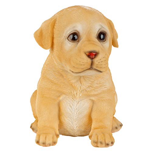 Design Toscano JQ110869 Yellow Lab Puppy Partner Sammlerfigur Hundespielzeug, Farbe