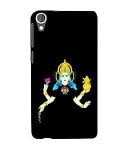 PrintVisa Designer Back Case Cover for HTC Desire 825 (mahalakshmi Saraswati Devi Maa Dhan Kuber Gold Golden)
