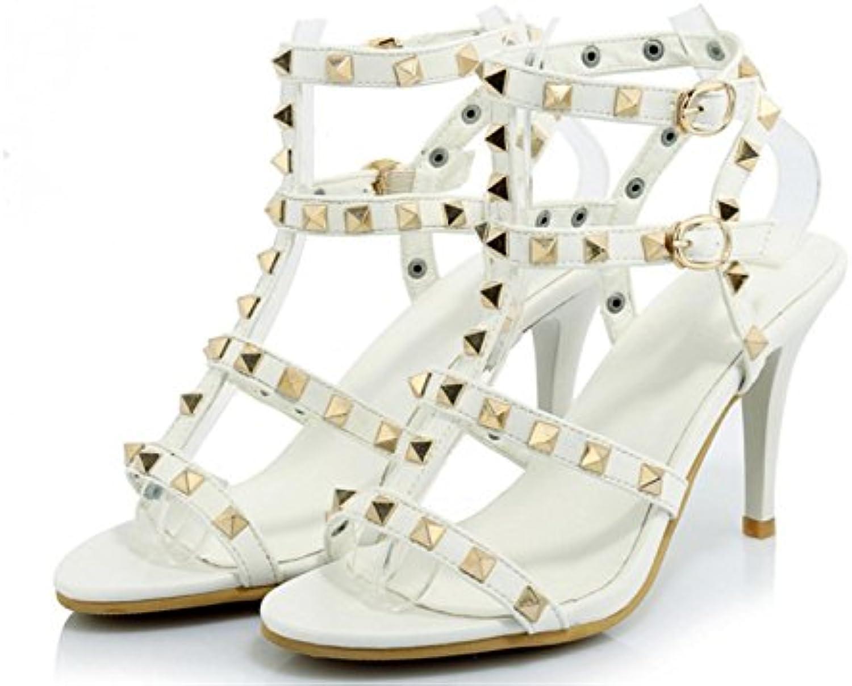 b6ce2282e Kitzen Women Sandals High Heel Sandals Rivet Rivet Rivet Fine With Buckle  Shoes Fashion Party Banquet