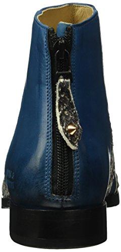 Melvin & Hamilton Jessy 12, Bottes Classiques femme Bleu - Blau (Phython Blue/Crust Mid-Blue/hRS)
