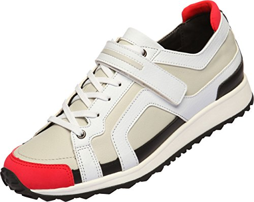 SNRD  SN703, Sandales Compensées femme Blanc - Blanc/rouge