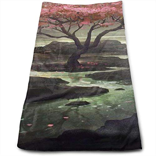 ewtretr Asciugamani Viso-Mani, Japanese Cherry Blossom Tree Multi-Purpose Microfiber Towel Ultra...