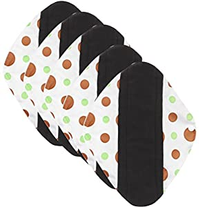 Kingko® Cute Pattern Print Charcoal Bamboo Sanitary Napkins Towel Cloth Reusable Washable Menstrual Pads Sanitary Pads