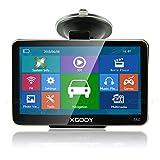 Xgody 560 - Navigatore GPS portatile per auto, per navigatore satellitare da 5 pollici, touch screen integrato, 8 GB di RAM, FM, MP3, MP4, mappe a vita, con parasole (560F + SC)