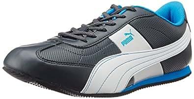 Puma Men's Esito 2 DP Dark Shadow, Cyan Blue and White Sneakers - 11 UK /India(46EU)