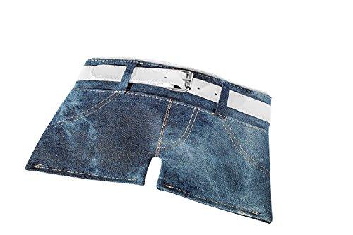 WEDO Trousse scolaire Motif mini shorts jeans HotPants Bleu