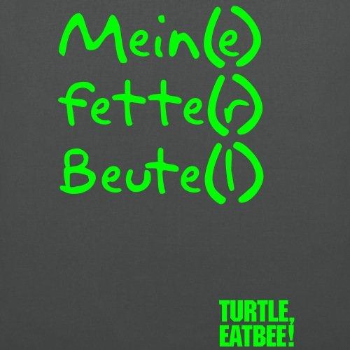 Fette Beute Fetter Beutel Stoffbeutel von Spreadshirt® Graphite