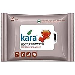Kara Moisturizing Face Wipes - Viscose Fibre - Honey & Almonds - 25Pcs
