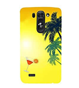 Fiobs Designer Back Case Cover for LG G3 Mini (Beach Drink Coconut Tree Sea Shore)