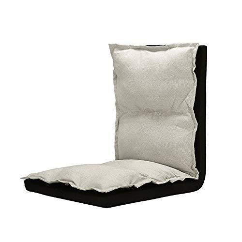Einfache Komfortable Chaise Lounge Faul Sofa Klapp Einstellbare Entspannende Sitzkissen Boden Stuhl Bett Matte for Arbeitszimmer Balkon Outdoor Tragbare (Color : Beige) (Chaise Lounge-sofa-bett)