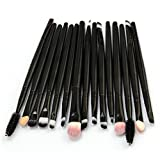 TAOtTAO 15 teile/satz Make-Up Pinsel Set werkzeuge Make-up Kulturbeutel Wolle Make-Up Pinsel Set (Schwarz)
