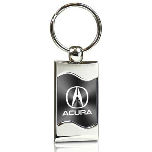 acura-gray-spun-brushed-metal-key-chain