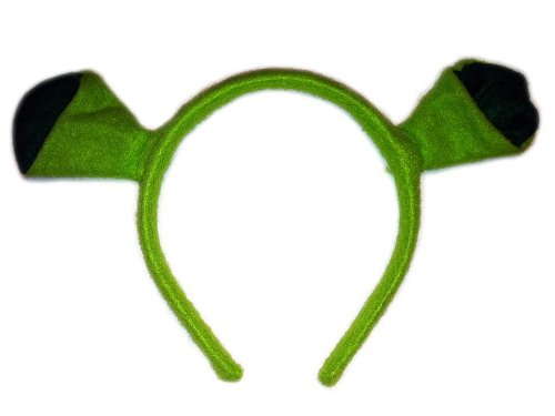Kopfschmuck für Shrek Kostüm Karneval Fasching Hut Haarreif mit (Ohren Kostüm Shrek)