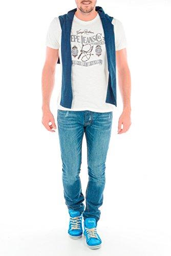 Pepe Jeans Herren T-Shirt Weiß - weiß