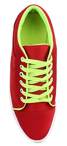 casual chaussures baskets pour hommes conduire chausson lacets usure du parti chaussures en toile rouge et vert