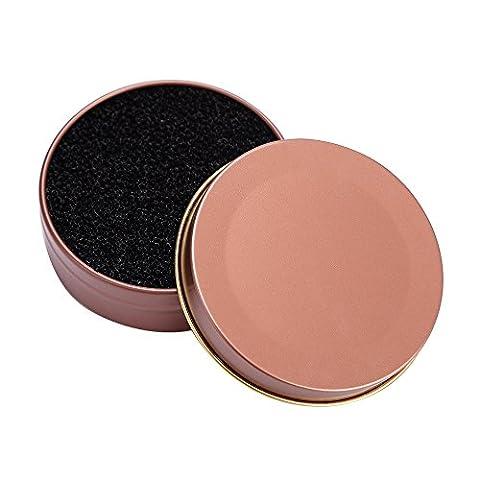 WOCACHI Iron Box Makeup Pinsel Clean Schwamm Augen Schatten Pinsel Reiniger Werkzeug Schwamm Makeup Brush Clean Sponge Rose Gold
