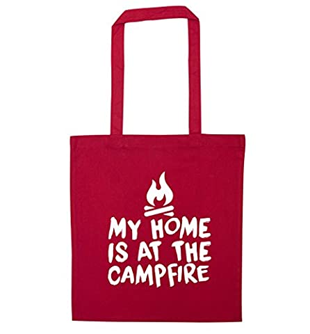 My home is at the campfire tote bag   Flox Creative
