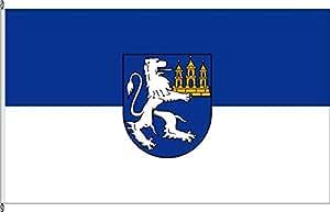 Flagge Fahne Hochformatflagge Bad Lauchstädt - 120 x 300cm