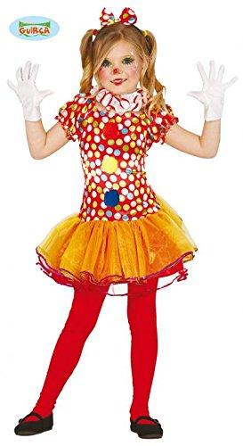 Costume clown pagliaccio pagliaccetta carnevale bambina taglia 10-12 anni