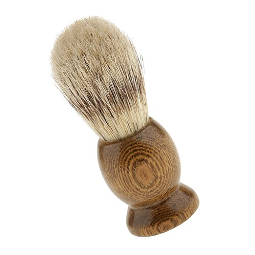 Segolike Professional Wood Salon Barber Men Shaving Brush Mens Long Handle Shave Tool - 03
