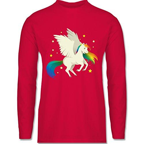 Comic Shirts - Pegasus - Longsleeve / langärmeliges T-Shirt für Herren Rot
