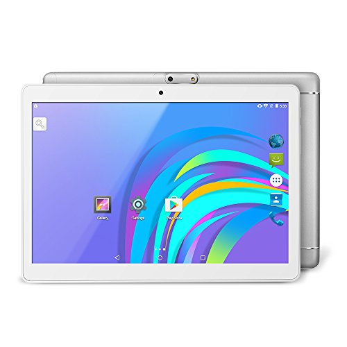 YUNTAB K98 9,6-Zoll-Tablet (3G, Auard-Core, Android 5.1 Dual-Kamera-GPS - Google Play - 1 + 16 GB - Neues Bluetooth 4.0-Modell) (Silver)