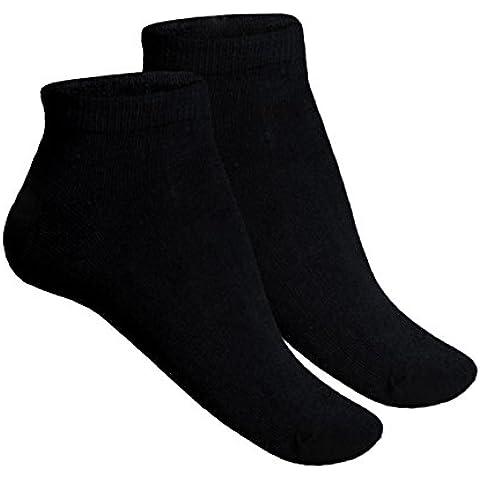 12 Calze Calzini Uomo Nero Bianco Sneaker Corto Caviglia Cotone