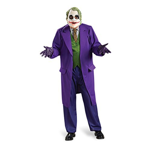Batman The Joker - Deluxe Kostümset, 3-teiliges Komplettkostüm, Jacke, Maske, Hose - L (Scarecrow Kostüme Männer)