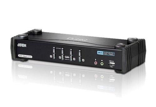 Aten CubiQ CS1784A 4-fach KVM Umschalter (DVI, USB 2.0, 2.1 Audio) (2 Port Dual Dvi Usb Kvm-switch)