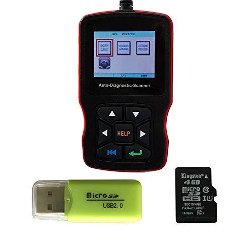 ZZKJBox Automatisierter Diagnosescanner für BMW Honda, OBD2 EOBD zum Lesen und Löschen von Fehlercodes/Anzeigen von Echtzeitdaten und grafischen Anzeigen sowie Informationen zur Fahrzeugversion