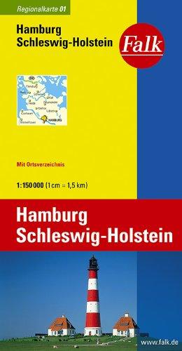 Falk Regionalkarte Hamburg, Schleswig-Holstein 1:150 000